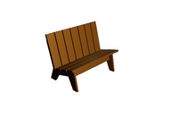 AddAThing OutdoorItems BenchWood
