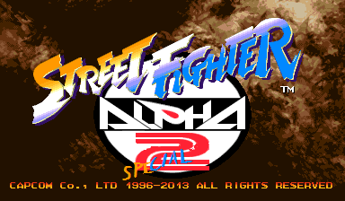 Street Fighter Alpha 2 Special Title screen