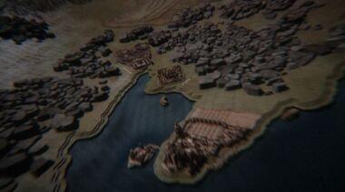 Затока Печалі і бухта Работоргівців в відкриваючій сцені