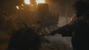 Sam kills thenn warg