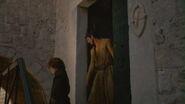Littlefinger's brothel entrance mockingbird sigil