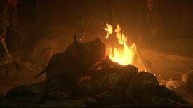 Thoros reviving Beric s3e5