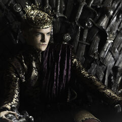 Joffrey on his throne in