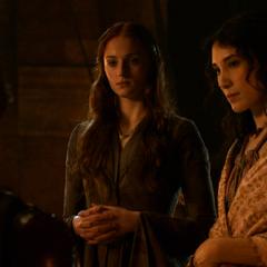 Тіріон розмовляє з Сансою і Шаею перед битвою у Черноводной.