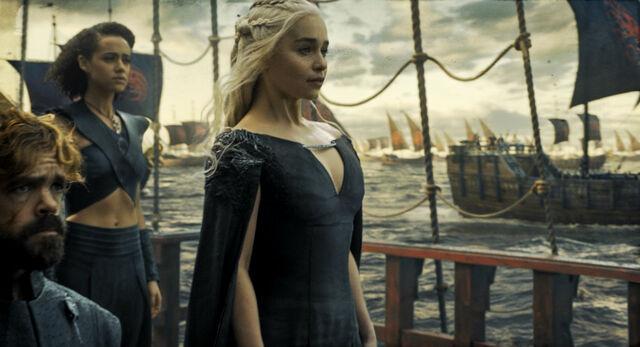 File:Daenerys Targaryen Sails to Westeros, Season 6 Episode 10 Preview..jpg