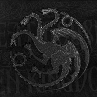 Targarienų giminės herbas su devizu.