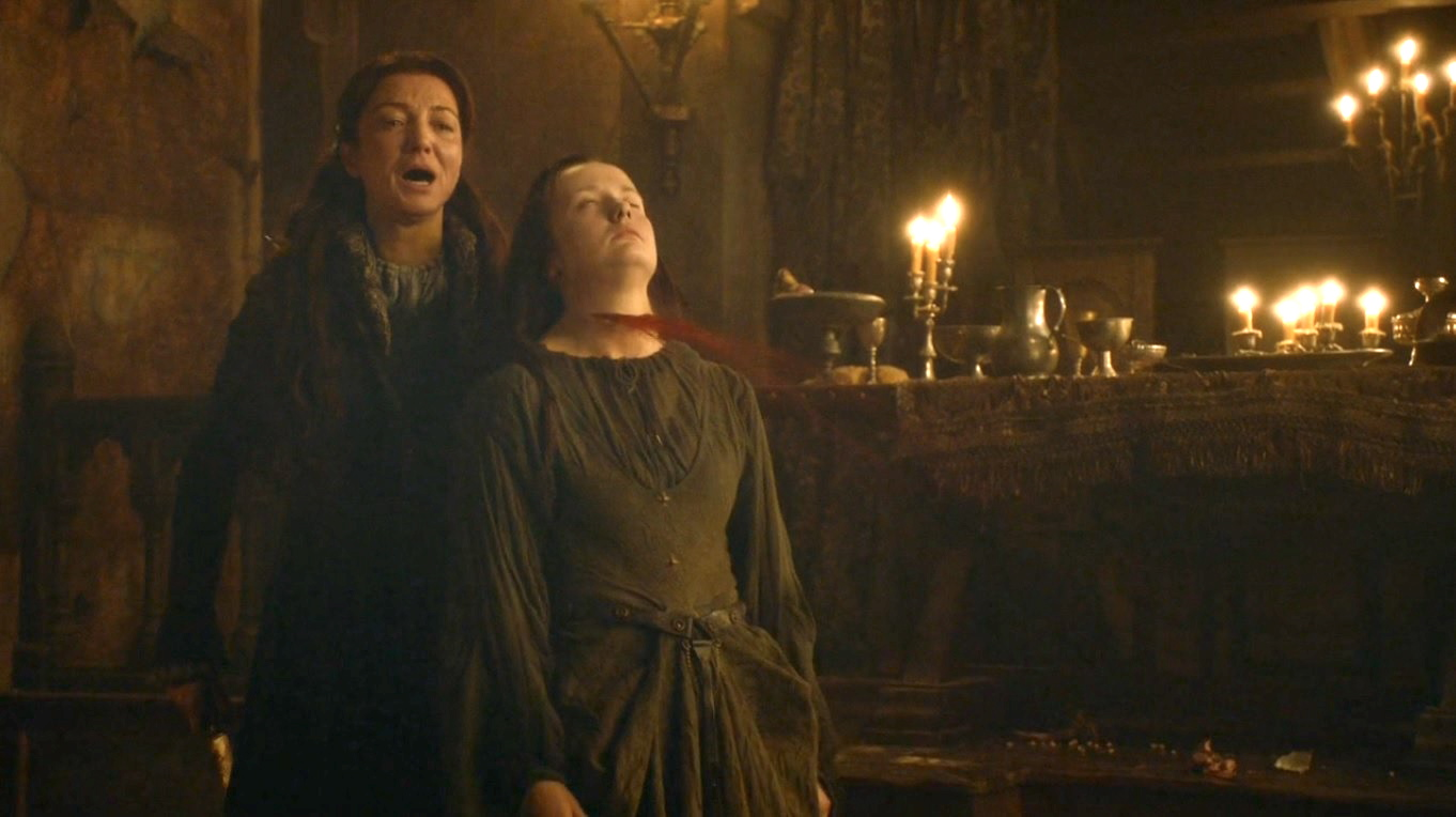Catelyn Kills Walder Frey S Wife The Lady Joyeuse Moments Before Being Killed Herself