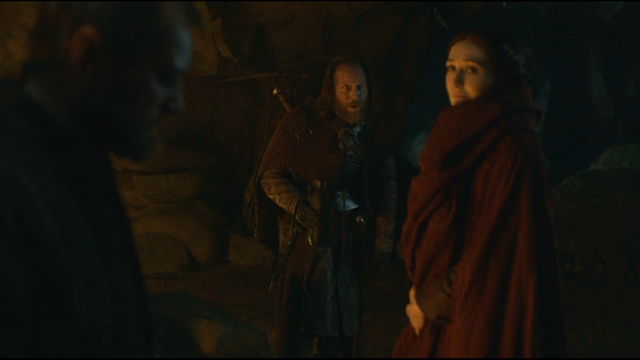 File:Melisandre with thoros and beric.png