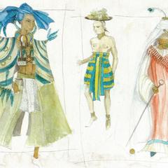 Concept art of Qartheen costumes.