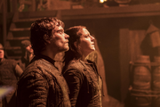 Yara and Theon Look Up at Euron