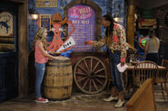 Season 1, Episode 6 - Man pointing at Billy the Squid menu
