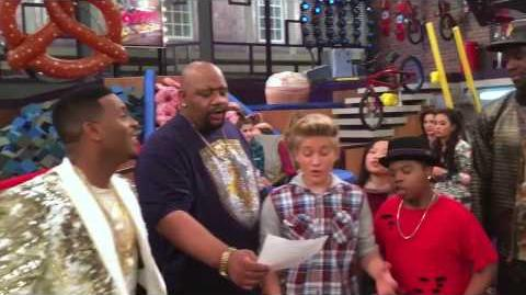 "Dan Schneider ""Game Shakers"" Game Shakers sing the iCarly Theme Song!"