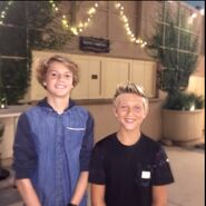 Thomas Kuc and Jace Norman