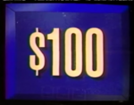 Jeopardy! first bordered $100 dollar figure