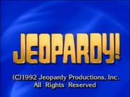 Jeopardy! 1992-1993 season copyright card