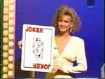 Suzanna Holding the Joker Card
