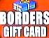 Borders Gift Card 2003