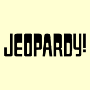 Jeopardy! Logo in Creme-4