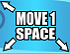 Cyan Move 1 Space (Up-Left, Down-Left, and Down-Right)