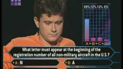Bernie Cullen's Million Dollar Question - Who Wants to be a Millionaire Classic Format