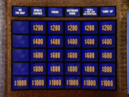 Jeopardy! first metallic game board