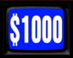 Jeopardy! 1984-1985 $1000 Dollar Figure