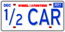 Half Car License Plate 1
