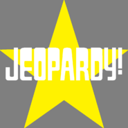 Jeopardy! Logo in Star Background in White Letters