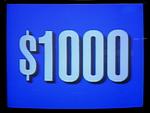 Jeopardy! 1991 $1,000 dollar figure