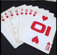 Top card hearts court