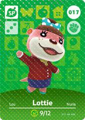 Amiibo AC Lottie card