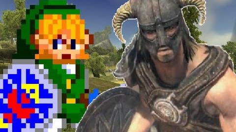 Link Vs. Dragonborn- Gaming All Star Rap Battles 04