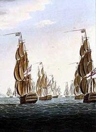 British Fleet engaged