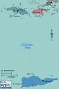 Map - Virgin islands