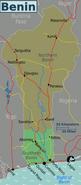 Map - Benin