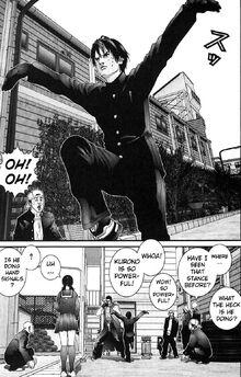 Gantz Kurono's fighting stance