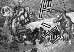 Gantz T-Rex kills Triceratops