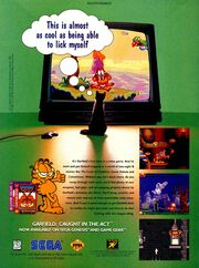 Garfield caught in the act video game print ad NickMag Dec 1995