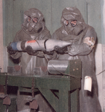 File:M9A1 Gas Masks With Toxicological Agent Protective (T.A.P.) Hoods And Aprons.jpg