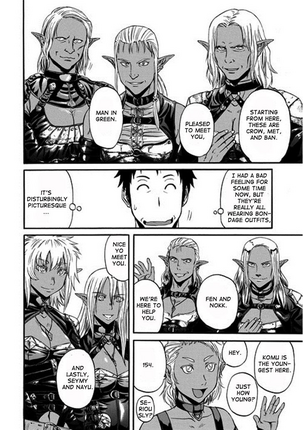 Chapter 43 p 20 Dark Elves with Itami