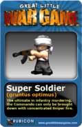 GLWG trading card supersoldier