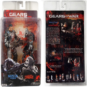 AMarcus Fenix Vs. Locust Drone (Action Figure) Series Three in box (Front and back).