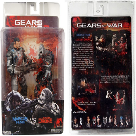 File:AMarcus Fenix Vs. Locust Drone (Action Figure) Series Three in box (Front and back)..png