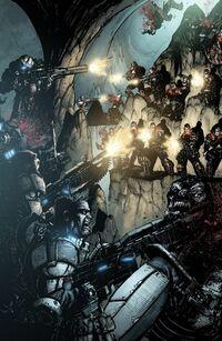 Gears of War pages III by JoelGomez
