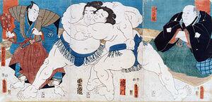 Kunisada sumo 1851