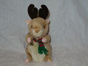 GEMMY REINDEER HAMSTER SINGING DANCING CHRISTMAS JINGLE BELLS ANIMATED PLUSH