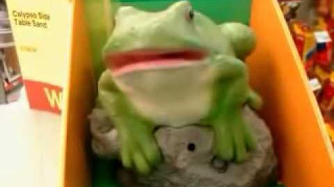 Gemmy Friendly Frog (Rare Rock version)
