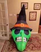 Gemmy Prototype Halloween Skull Inflatable Airblown