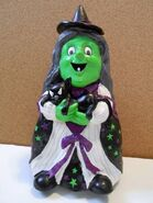 Gemmy Rubber Animated Singing Dancing Witch & Cat Halloween Prop
