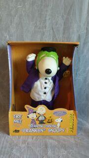 Gemmy Industries 1998 Animated Peanuts Standing Dancing ''Franken'' Snoopy Halloween Figure RARE